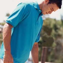 Jerzees 437  5.6 oz 50/50 Jersey Knit Polo with SpotShield Stain Resistance.
