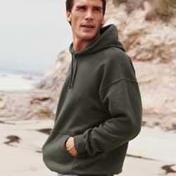 Gildan 7.75 oz 50/50 Blend Hooded Sweatshirt.