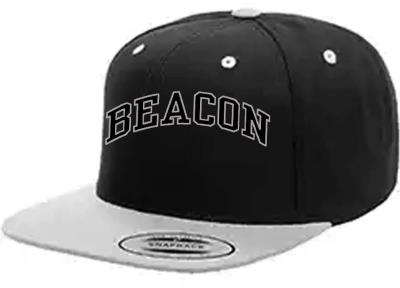 Beacon Snapback Embroidered Black Cap