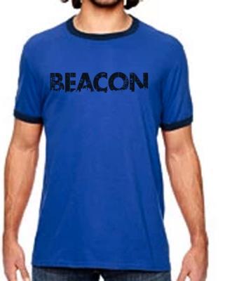 Beacon Heather Blue Ringer T