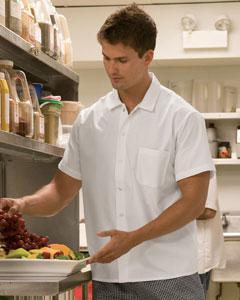 C020302 Dickies Chef 4 oz. Economy Kitchen Shirt