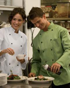 C070302 Dickies Chef Men's 6.5 oz. Executive Chef Coat
