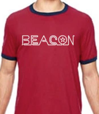 Beacon Heather Red Ringer T