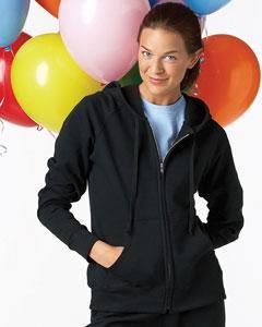 W280 Hanes Ladies' 8 oz., 80/20 Fleece Full-Zip Hoodie